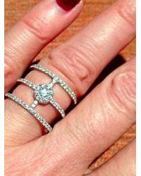 Anne Sisteron | 18kt White Gold Diamond Fleur Ring | Lyst