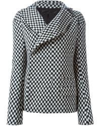 Haider Ackermann - Black Checked Wool-Blend Jacket - Lyst