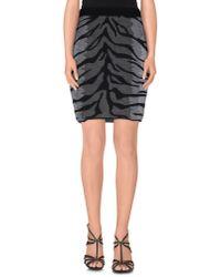 Lucien Pellat Finet - Gray Knee Length Skirt - Lyst
