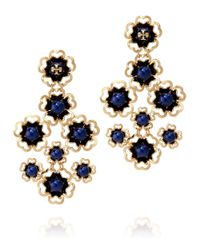 Tory Burch | Blue Katie Chandelier Earring | Lyst