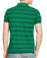 Polo Ralph Lauren | Green Striped Mesh Polo Shirt for Men | Lyst