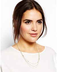 ASOS - Multicolor Scalloped Resin Short Pendant Necklace - Lyst