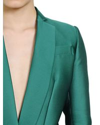 Antonio Berardi Green Techno Silk Duchesse Jacket Style Dress