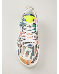 Dolce & Gabbana - Red Printed Sneakers for Men - Lyst