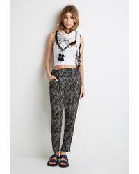 Forever 21 - Black Diamond Print Harem Pants - Lyst