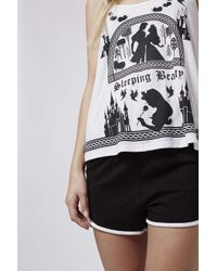 TOPSHOP - White Sleeping Beauty Cami And Shorts - Lyst
