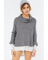 Kimchi Blue Gray Sally Turtleneck Sweater