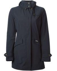 Woolrich | Blue Hooded Parka | Lyst