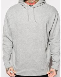 ASOS - Gray Oversized Hoodie With Cuff Zips for Men - Lyst