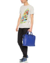 Marc By Marc Jacobs Blue Classic Leather Briefcase for men