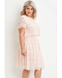 93f07306d9d Forever 21. Women s Pink Plus Size Eyelash Lace Top You ve Been Added To ...