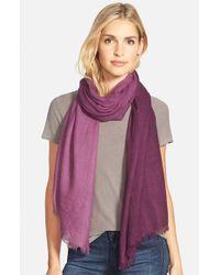 La Fiorentina - Ombre Wool & Cashmere Scarf - Purple - Lyst