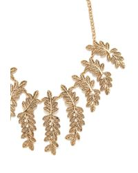 Forever 21 - Metallic Leaf Statement Necklace - Lyst