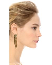 Oscar de la Renta - Metallic Chandelier Earrings - Cry Gold Shadow - Lyst