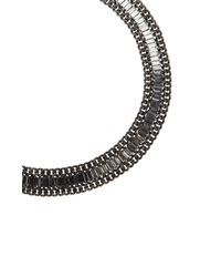 BCBGMAXAZRIA - Black Baguette Stone Necklace - Lyst
