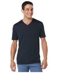 Perry Ellis Blue V-neck T-shirt for men