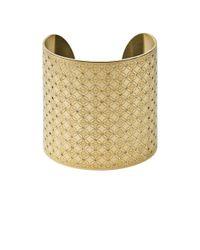 Michael Kors - Metallic Gold-tone Logo Cuff - Lyst