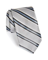 Michael Kors | Metallic Stripe Silk Tie for Men | Lyst