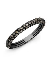 Anne Sisteron | Black 14kt Oxidized White Gold Brown Diamond Ring | Lyst