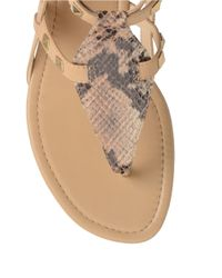 Isola Natural Matia Studded Leather Gladiator Sandals