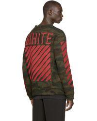Off-White c/o Virgil Abloh Green Camouflage Pullover for men