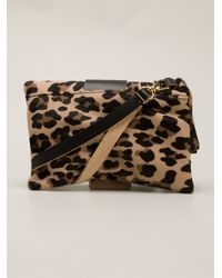 Marni - Brown Leopard Print Pochette - Lyst