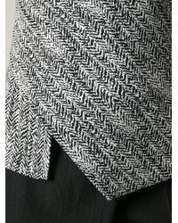 Stella McCartney Gray Herringbone Tweed Top