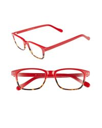 A.J. Morgan Red 'nottingham' 48mm Reading Glasses