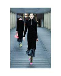 Miu Miu Gray Stretch Silk-blend Midi Dress