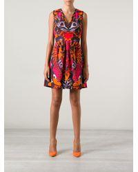 McQ Multicolor Printed Skater Dress