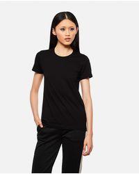 T-shirt con logo applicato di Moncler in Black