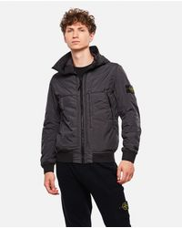 Stone Island Gray Nylon Jacket for men