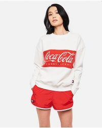 Felpa Con Logo Tommy X Coca Cola di Tommy Hilfiger in White
