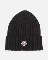 Berretto in lana vergine di Moncler in Black