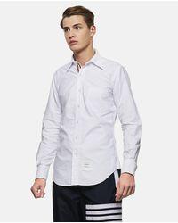 Thom Browne White Botton Down Shirt for men