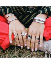 Bing Bang - Metallic Illuminated Eye Ring - Lyst
