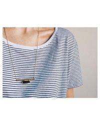 Bing Bang - Metallic Horizon Line Necklace - Lyst