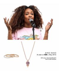 Bing Bang - Pink Earth Amulet Necklace - Lyst
