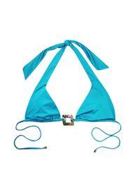 Beach Bunny - Triple Crown Triangle Bikini Top - Capri Blue - Lyst