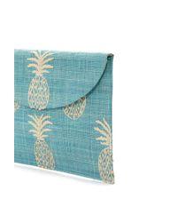 Kayu Blue Straw Clutch