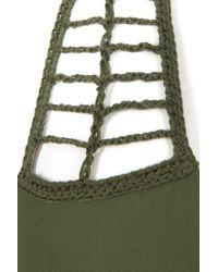 Acacia Swimwear Secrets Crochet Halter Bikini Top - Palm Green