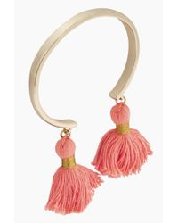 Lacey Ryan - Multicolor Tassel Bangles - Coral & Gold - Lyst