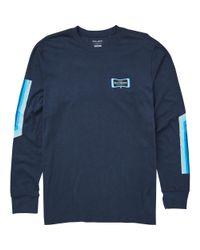 Billabong - Blue Pulse Long Sleeve Tee for Men - Lyst