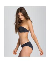 Billabong - Black Sol Searcher Bustier Bikini Top - Lyst