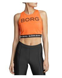 CHINA CROPPED TANK Shocking Orange Björn Borg en coloris Multicolor