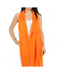 Black.co.uk - Bright Orange Cashmere And Silk Wrap - Lyst