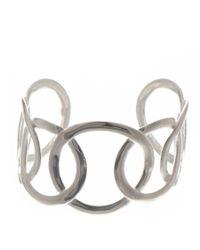 Black.co.uk | Metallic Large Link Sterling Silver Cuff | Lyst