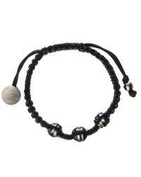 Black.co.uk Callisto Tahitian Black Pearl And Macrame Bracelet