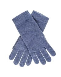 Black.co.uk Ladies Denim Blue Cashmere Gloves