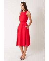 Black Halo Red Sanibel 2 Piece Dress